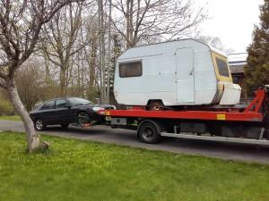 Bärgning av husvagn