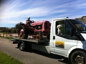 Bärgning traktor